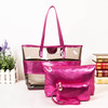 transparent pvc beach bag three-piece suit travel wash gargle bag