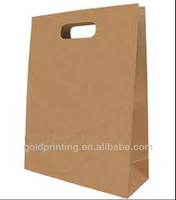 Manufactoring die cutted handle brown kraft paper bags