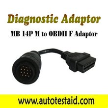 MB 14P M to OBDII F Adaptor