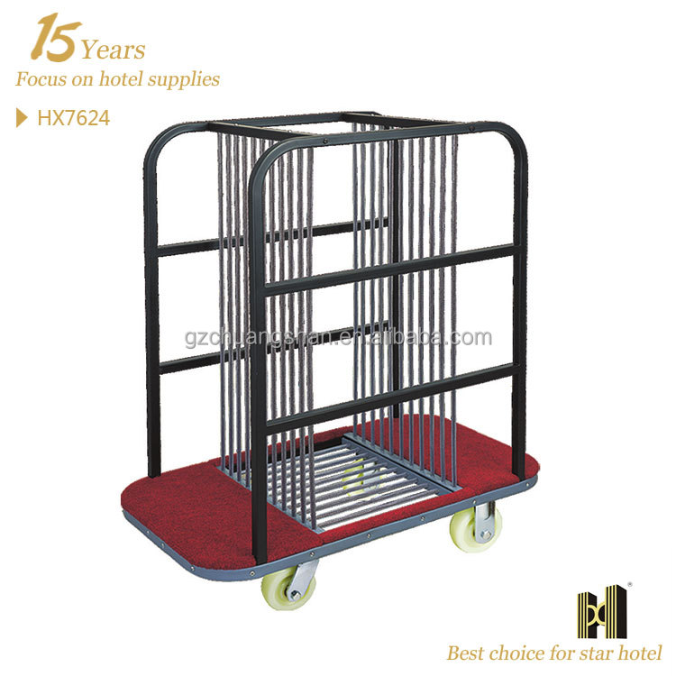 Stainless Steel Good Quality Mobile Glass table trolley cart