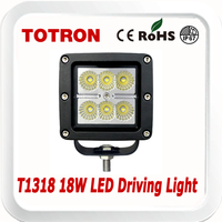 TOTRON Cube 18W LED driving lights T1318 for Motorcycle,Offroad,ATV,4x4,Jeep,Truck,SUV,Wheelchair,Car