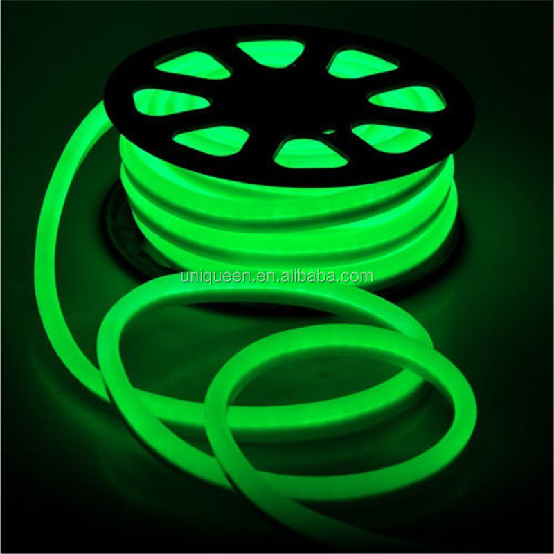 Double Sides 360 Degree High Bright Led Flex Neon Light Strip Mini 6mm PCB Width IP68 Waterproof 2835 220V Soft Led Neon Light