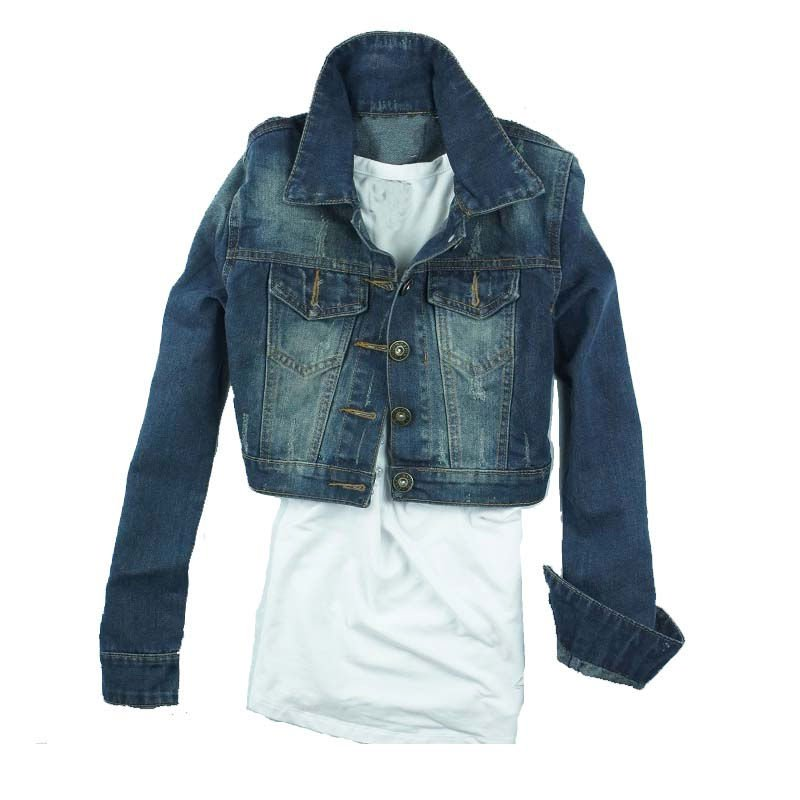 Ladies' fashion denim jean jacket