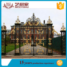 2016 latest main gate designs/Modern designs for metal gates/Beautiful wrought iron gate accessories used for luxury iron gate