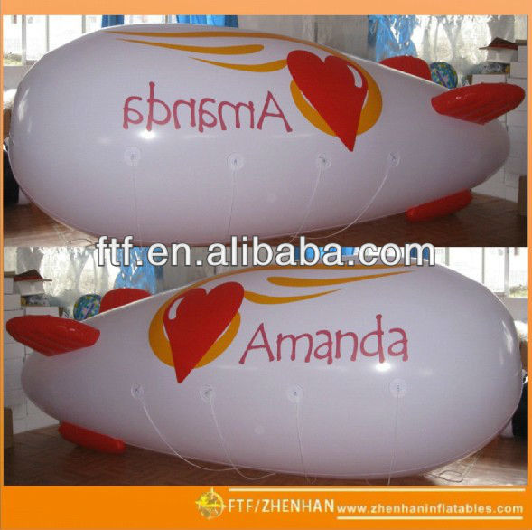 PVC Inflatable Amanda helium blimp
