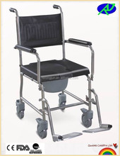 Handicapped equipment adult potty chair /toilet chair with wheels /patient toilet chair