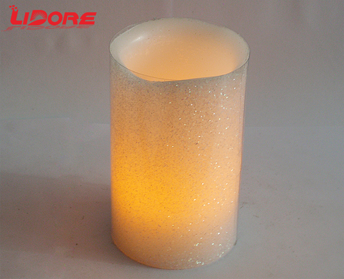 LIDORE Round Pillar LED Home Decoration Flameless Candles