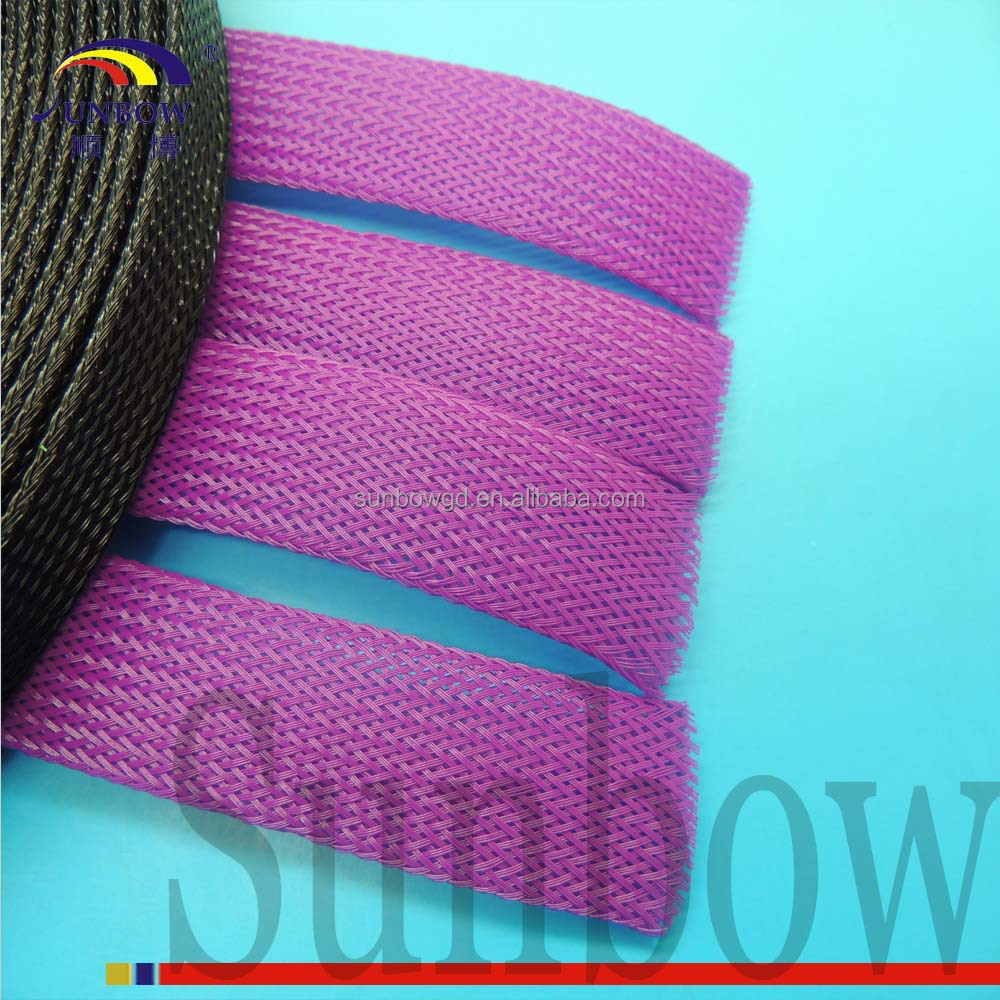High density 5mm Matt pet expandable cable braided sleeve