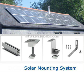 alluminium alloy stainless steel materail pitch tile flat solar panel roof mounting brackets