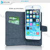 Pull up leather phone case wallet light up cell phone cases for iphone