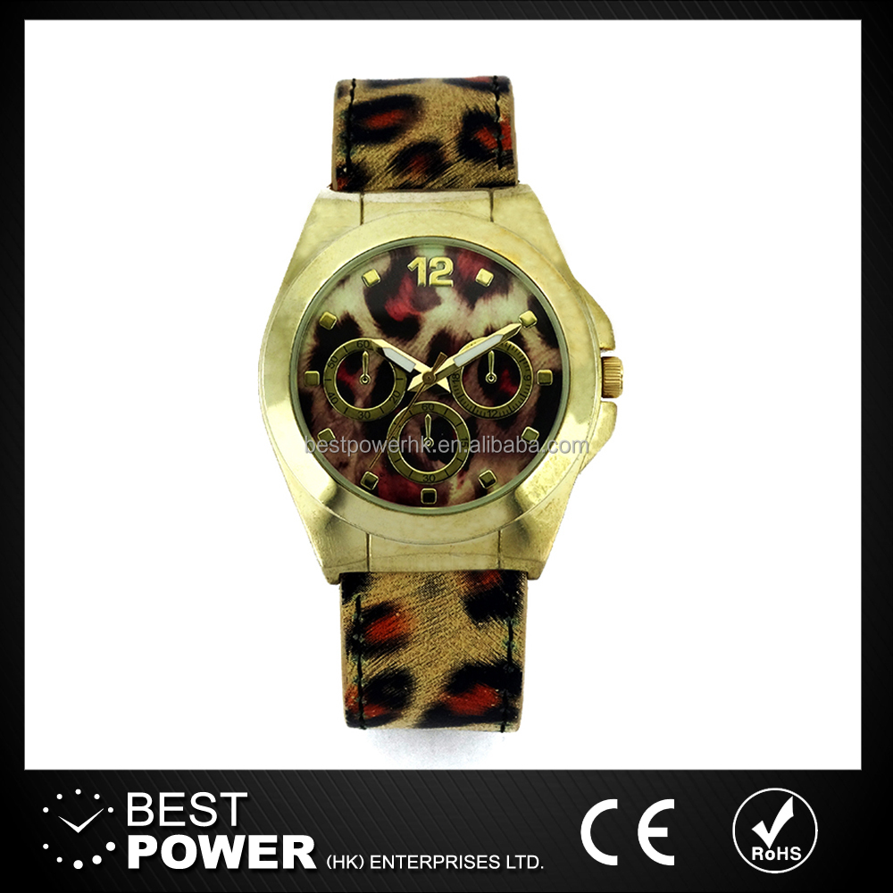 New fashion custom leopard print lady watches