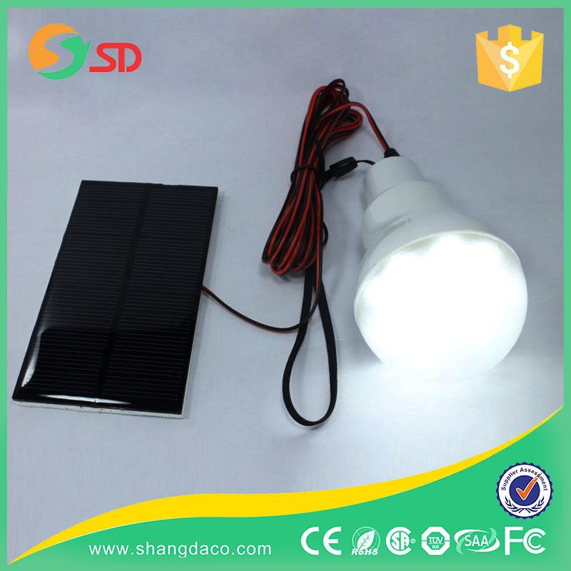 e27 rechargeable led bulb light/solar bulb /led energy saving lamp with solar panel