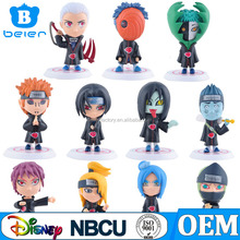 Whole Sale 11 styles Mini Japan Cartoon Naruto Figure OEM Toy Factory