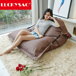 original OUTDOOR brown buggle up bean bags,buckle beanbag chair, big cushion