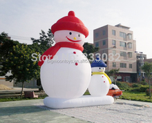 giant outdoor advertising new year big inflatable snow man for sale