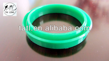 Green Y seals in PU material