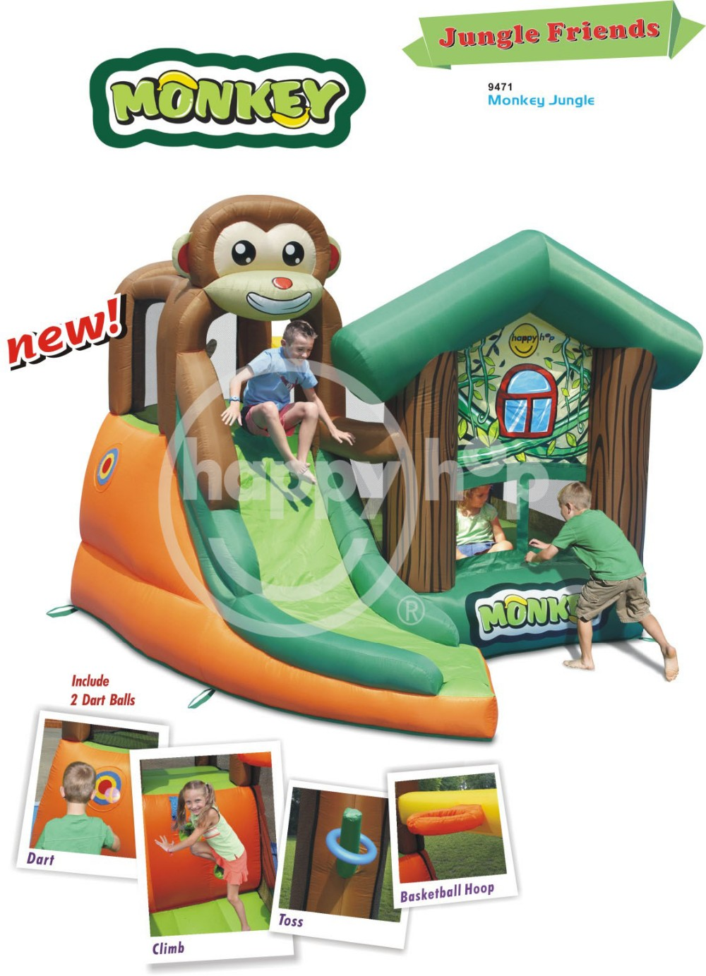 Happy Hop Bouncer -9471 Inflatable Bouncy Castle for Sale, Jump Inflatable
