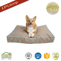 All Weather Rectangle Shredded OEM Eco-Friendly pet dog beds,luxury dog cushion,removable pet