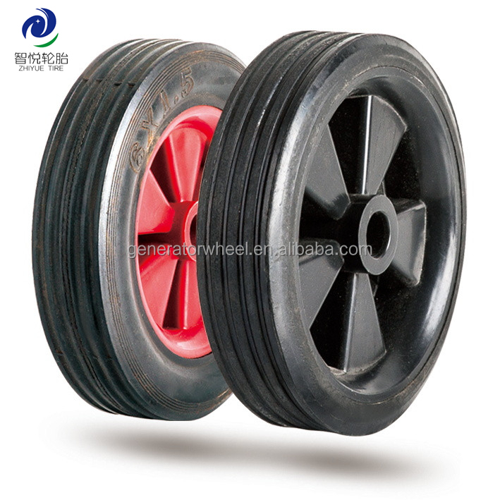 6 inch solid rubber tires for lawnmower
