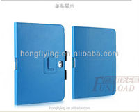 Blue shock-proof leather case for iPad Air with stand function