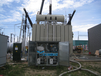 Two vacuum stage high pumping speed power transformer station vacuum drying equipment, vacuum dry out system