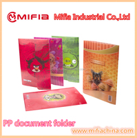 A4 hard plastic pp 3D printed document file folders / promotional document holders