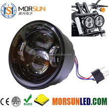 motorcycle led indicator light 5 inch led daymaker light with ring fat bob led 5'' headlight