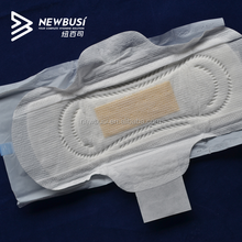 Female cotton breathable high quality anion sanitary napkin with negative ion