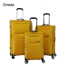 2018 New Design Factory Supplier Light Weight Nylon Personality Handle OEM Aluminium Trolley Travel Rolling Luggage Case