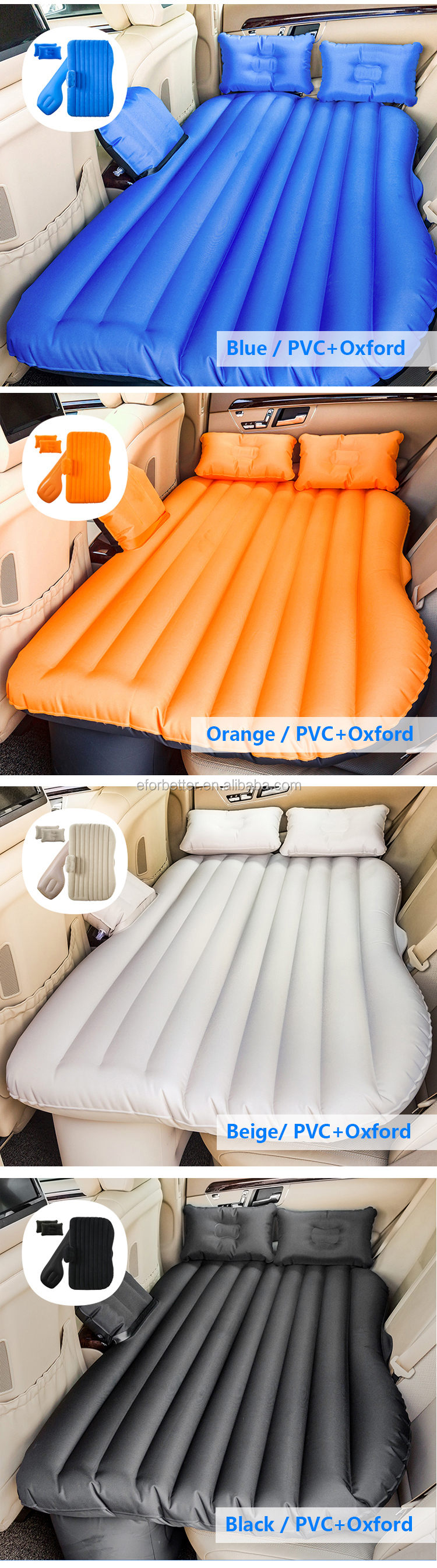 flocking plastic sex ari car bed inflatable air bed sofa kingcamp car back seat inflatable mattress
