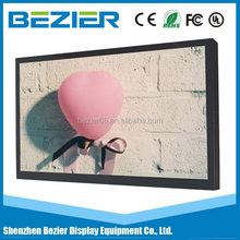 42 Inch slim bezel digital signage player LCD media monitor controller