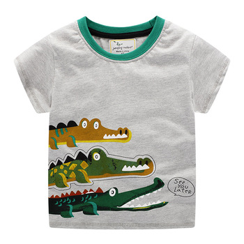 Fashion Toddler Baby Boy T Shirt Cartoon Printed Short Sleeve Europe America Casual Tee Tops