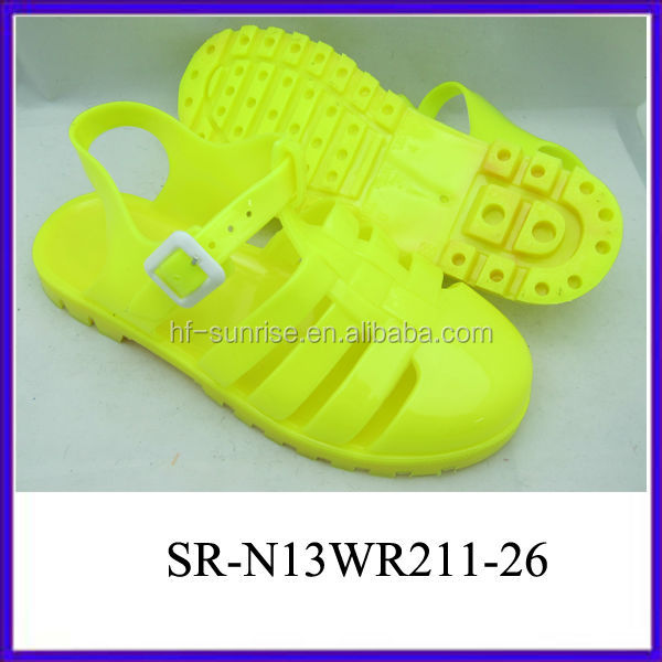 SR-N13WR211-26 yellow clear jelly sandals women plastic sandals ladies wholesale jelly sandals