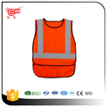 High visibility reflective safety vest for clothing with EN471 Class 2