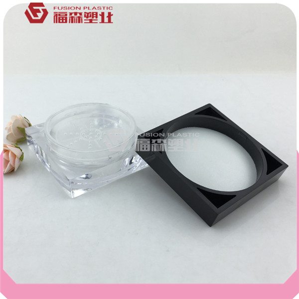 10g manufacture square loose powder sifter jar for cosmetic