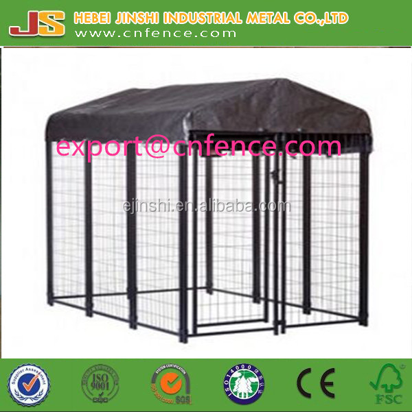1.22x1.83x1.85m powder coated welded dog kennel fence panel with enclosure