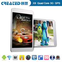 MTK Quad core tablet PC 3G SIM card slot with gps navigation, bluetooth