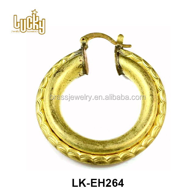 top quality hypo allergenic 24-karat gold plated brass material 18k gold earrings unique jewelry