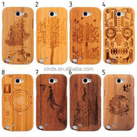 8 Kinds Genuine Natural Bamboo Combo Hard Cover Case for Samsung GALAXY Note II