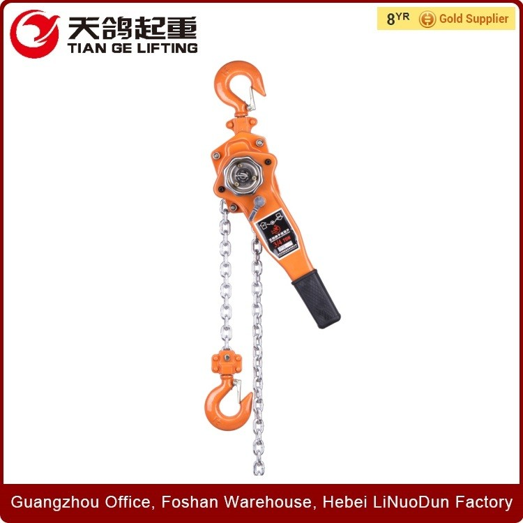 Tian Ge Approved Capacity 0.75T~9T Type HSZ-VT Robust and Safe Lever Hoist/Lever Block/Ratchet Lever Hois, With G80 Chain