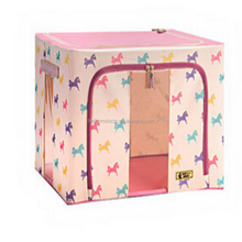 Wholesale woven fabric home fancy foldable storage boxes
