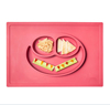 FDA grade anti-slip Smile Face Silicone Placemat for Kids, Silicone Suction Placemat