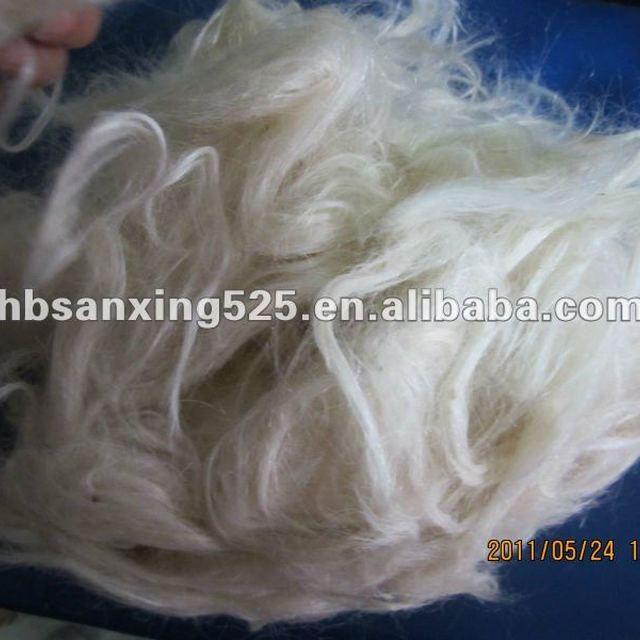 Carded goat hair