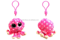 Pink Plush big head animal toy promotional key chain