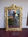 Wall Mirror Full Carving - Gold Leaf Mirrors Frame - Mirrored Furniture Indonesia