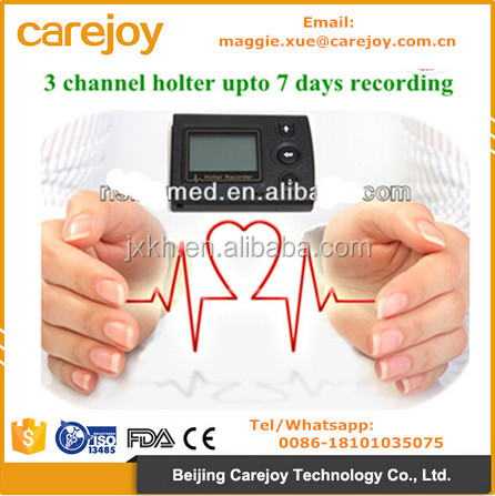 Carejoy CE Approved 24/72 hour ECG Holter recorder System Holter Analysis Software cardiac