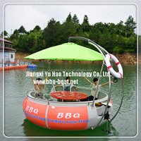 Boat Cookers, boat restaurant, leisure boat with cooking grill