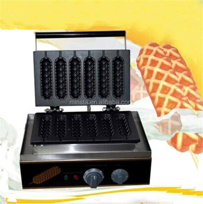 110V 220V Waffle maker shapes lolly waffle maker/ waffle stick commercial corn dog machine