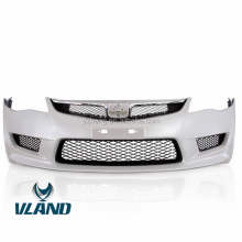VLAND factory for car bumper for CIVIC bumper for 2006-2011 with fog light and grille for CIVIC Front bumper