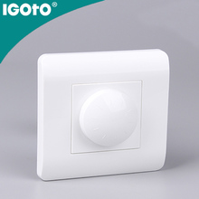 IGOTO U120 European standard 1gang fan speed controller 200W wall switch with led indicator light
